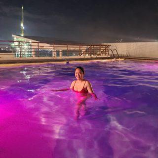 Expectation: Night swim Reality: Overtime work. 😂  #lifelately